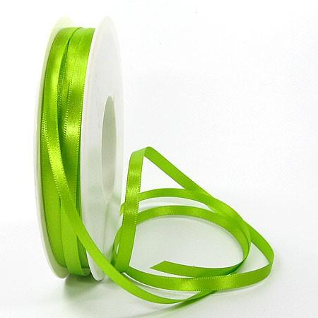 Satinband-SINFINITY, lindgrün: 6mm breit / 50m-Rolle, mit feiner Webkante