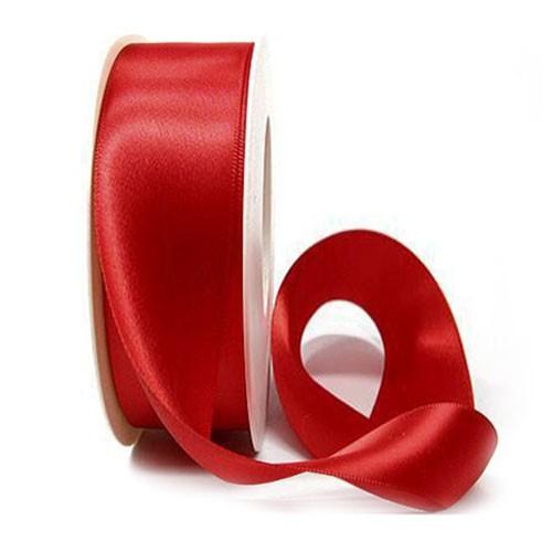 Satinband-SINFINITY, rot: 38mm breit / 25m-Rolle, mit feiner Webkante
