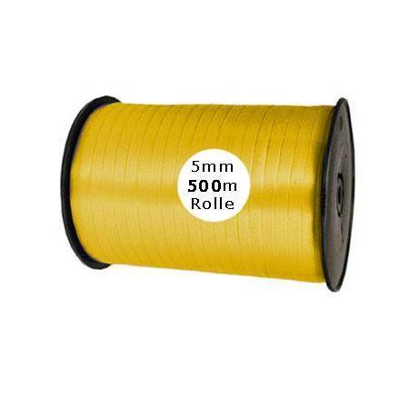 Ringelband: 5mm breit / 500m-Rolle, gelb