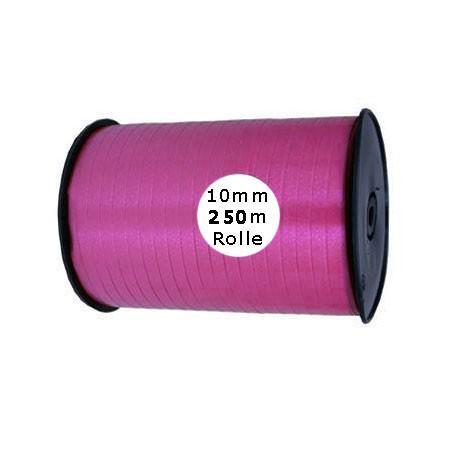 Ringelband: 10mm breit / 250m-Rolle, pink