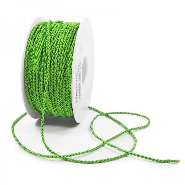 Kordel: 2mm breit / 50m-Rolle, apfelgrün