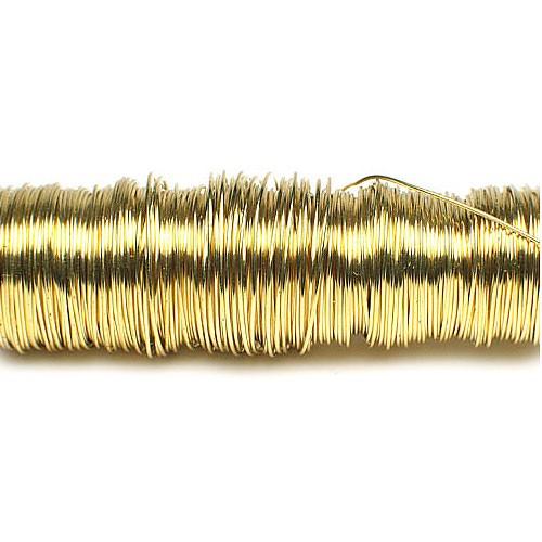 Decolackdraht, gold: 0,5mm Ø - 50m-SNAP-Spule = 100 gramm