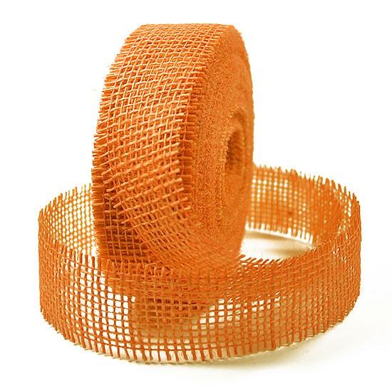 Juteband-Rupfenband: 40mm breit / 25m-Rolle, hellorange
