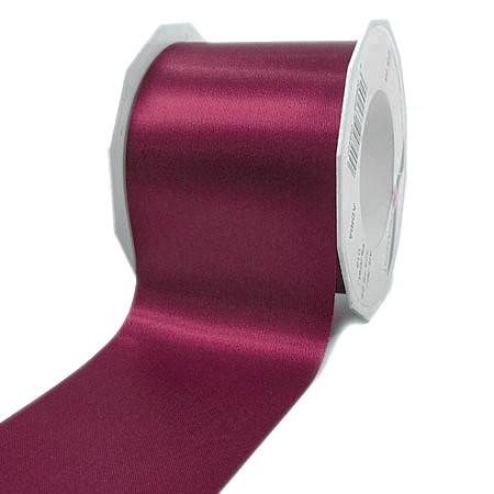 Satinband-ADRIA, Tischband: 72 mm breit / 25-Meter-Rolle, brombeer