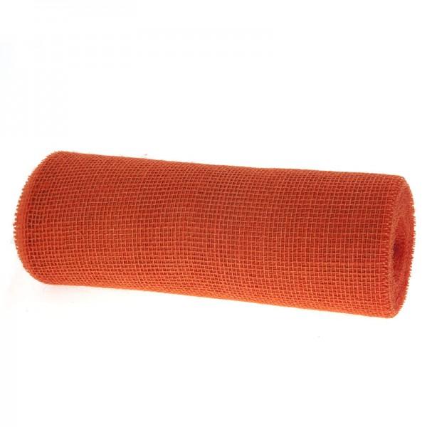 DEKOR-Jute - Tischläufer: 300mm breit / 10m-Rolle, orange.
