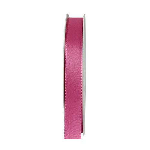 Taftband: 15mm breit / 50m-Rolle, pink.