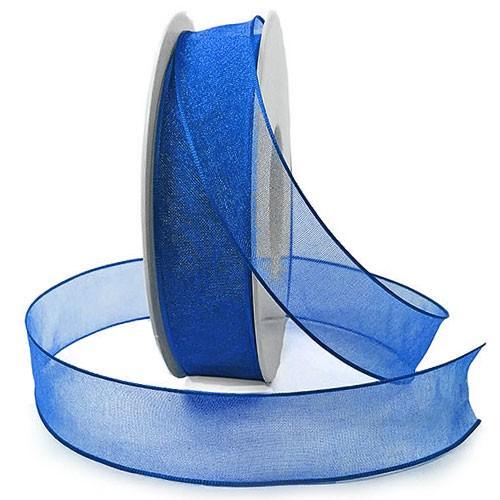 Organzaband, royalblau: 25mm breit / 25m-Rolle: 1250025128