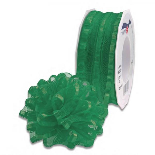 Ziehschleifenband VENEDIG: 40mm breit / 25m-Rolle, grün