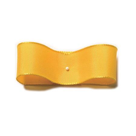 Drahtkantenband: 25mm breit / 25m-Rolle, gelb