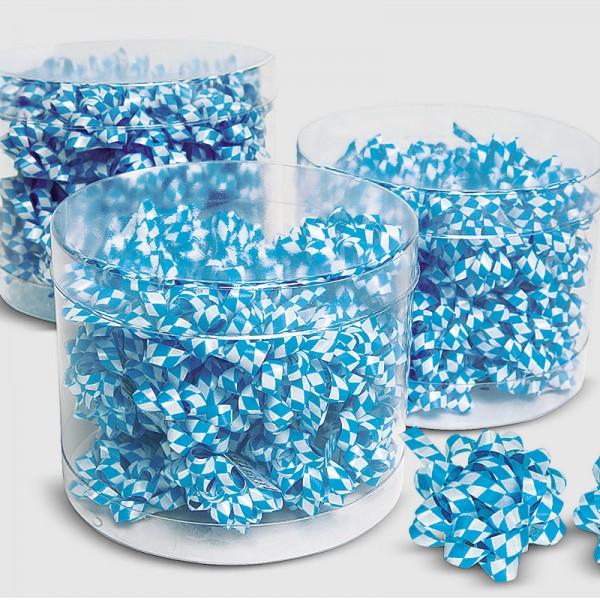 Fertig-Schleifen BAVARIA, blau/weiss, 24 Stück, dia. 35mm