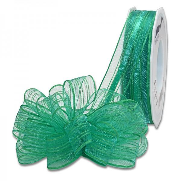 Ziehschleifenband VENEDIG: 25mm breit / 25m-Rolle, grün