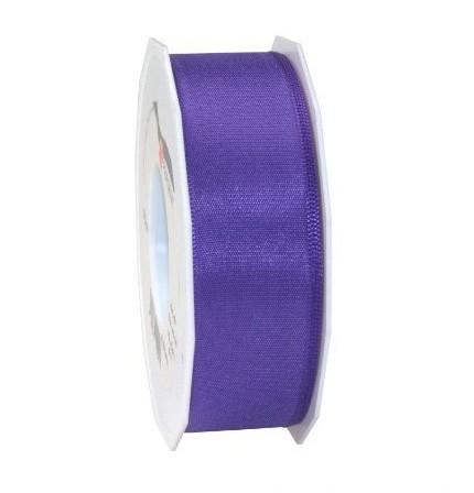 Taftband, lila: 40mm breit / 50m-Rolle, mit feiner Webkante.