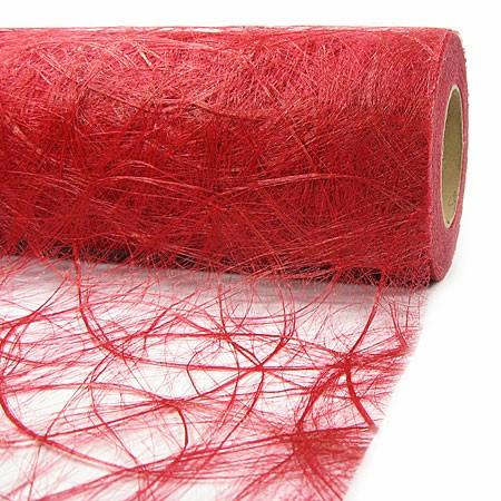 Sizoweb Dekovlies: 30cm breit / 25m-Rolle, rot