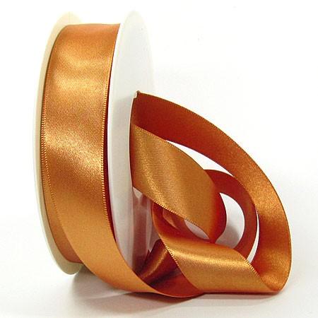 Satinband-SINFINITY, caramel: 25mm breit / 25m-Rolle, mit feiner Webkante.
