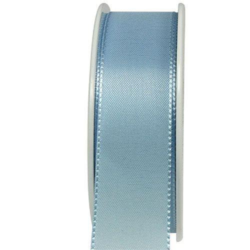 Taftband, hellblau: 40mm breit / 50m-Rolle, mit feiner Webkante.