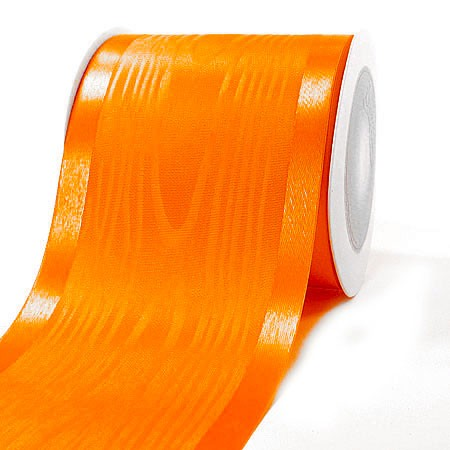 Satinband-Tischband Luxury: 100mm breit / 20m-Rolle, orange.