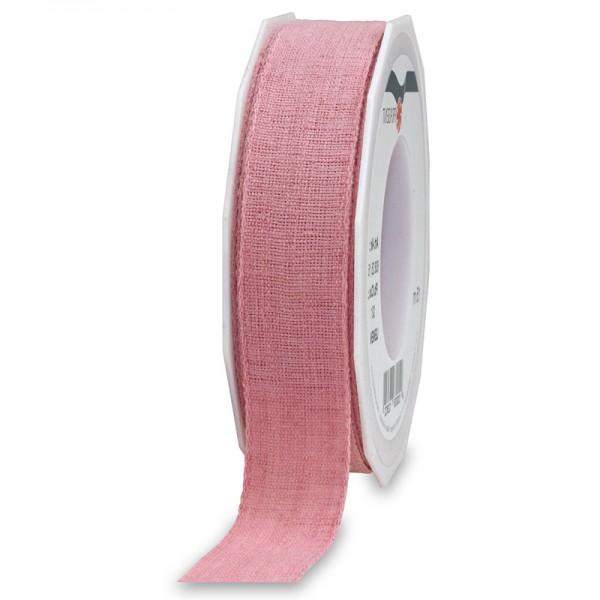 LEINEN, rosa, 25mm breit / 15m-Rolle