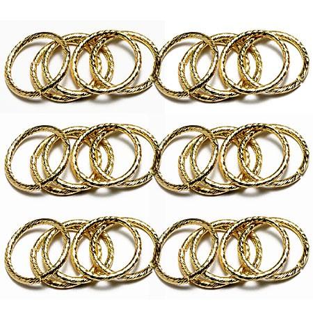 Deko-Hochzeitsringe, gold - 20mm Ø - 50 Stück