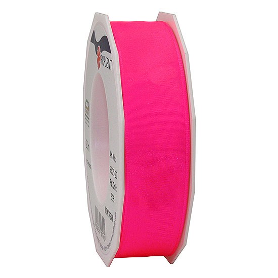 DREAM-Drahtkantenband: 25mm breit / 20m-Rolle, Neon-pink