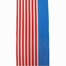 Nationalband USA: 55mm breit / 25m-Rolle, rot-weiss-blau