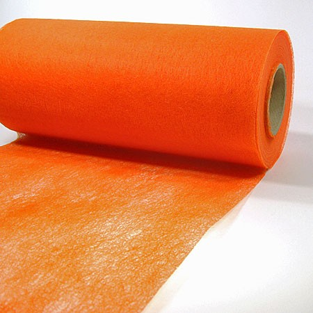 Dekovlies: 200mm breit / 25m-Rolle, orange
