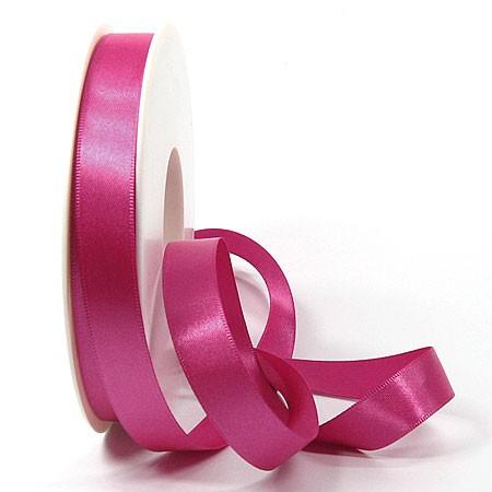 Satinband SINFINITY, pink: 15mm breit / 25m-Rolle, mit feiner Webkante.