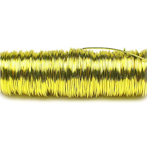 Decolackdraht, gelb: 0,5mm Ø - 50m-SNAP-Spule = 100 gramm