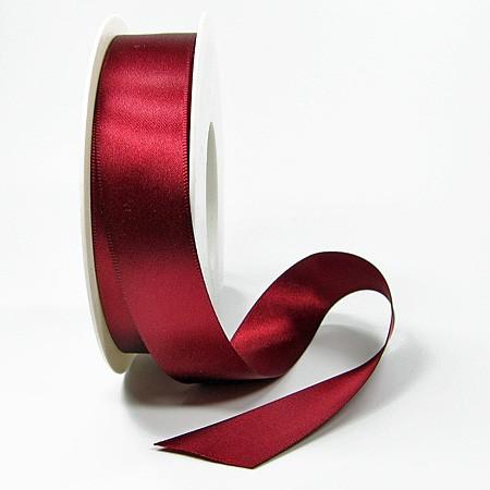 Satinband-SINFINITY, weinrot: 25mm breit / 25m-Rolle, mit feiner Webkante