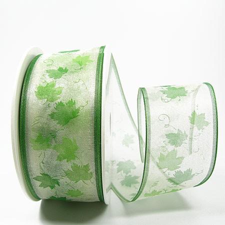 Ahornblatt, grün: 40mm breit / 25m-Rolle