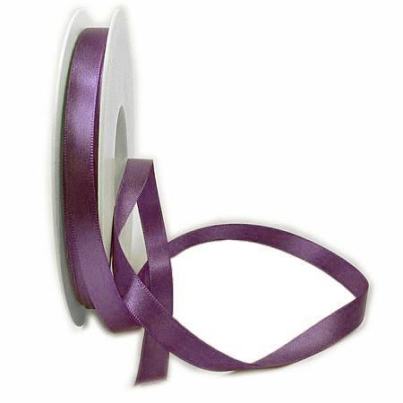 Satinband-SINFINITY, lila: 10mm breit / 25m-Rolle, mit feiner Webkante