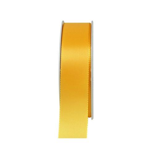 Taftband, sonnengelb: 25mm breit / 50m-Rolle, mit feiner Webkante.