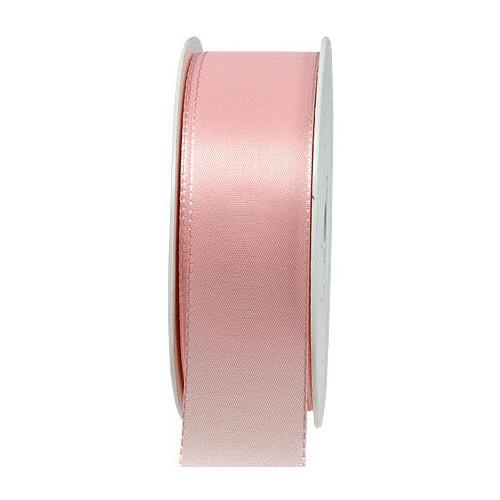 Taftband, rosa: 40mm breit / 50m-Rolle, mit feiner Webkante.
