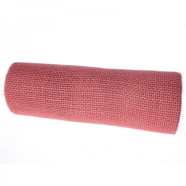 DEKOR-Jute - Tischläufer: 300mm breit / 10m-Rolle, rosa