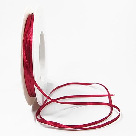 Satinband SINFINITY, brombeer: 3mm breit / 50m-Rolle, mit feiner Webkante