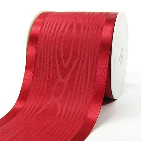 Satinband-Tischband Luxury: 100mm breit / 20m-Rolle, rot.