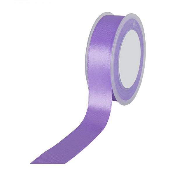 Satinband-SIMPEL: 25mm breit / 25m-Rolle, lavendel.