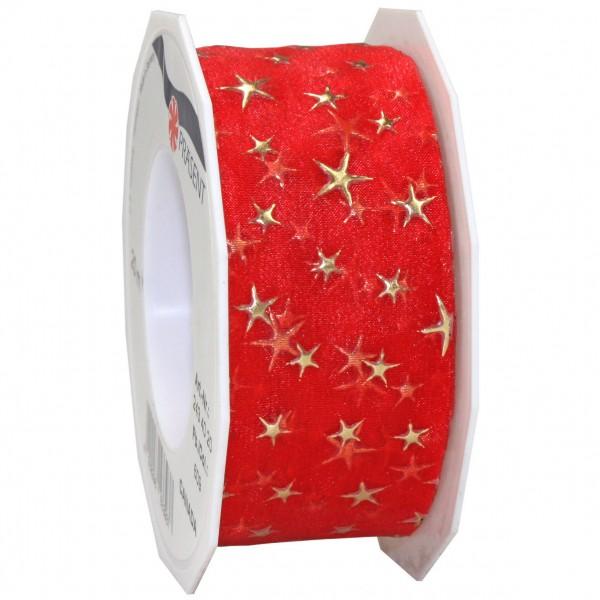 Weihnachtsband-CANADA, rot: 40mm breit / 20m-Rolle