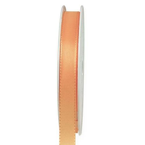 Taftband, apricot: 10mm breit / 50-Rolle, mit feiner Webkante