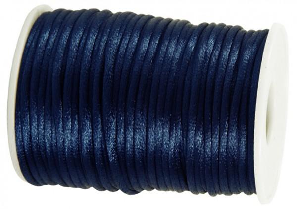 Satinkordel-Seidenkordel: 3mm Ø breit / 100m-Rolle, nachtblau