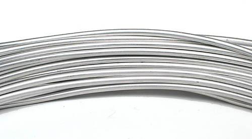 Aluminiumdraht: 2mm Ø - 3 Meter, silber