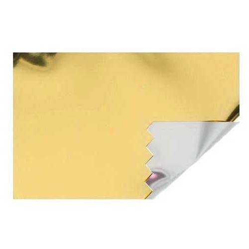 Zauberfolie: 700mm breit / 20m-Rolle, gold-silber hochglänzend