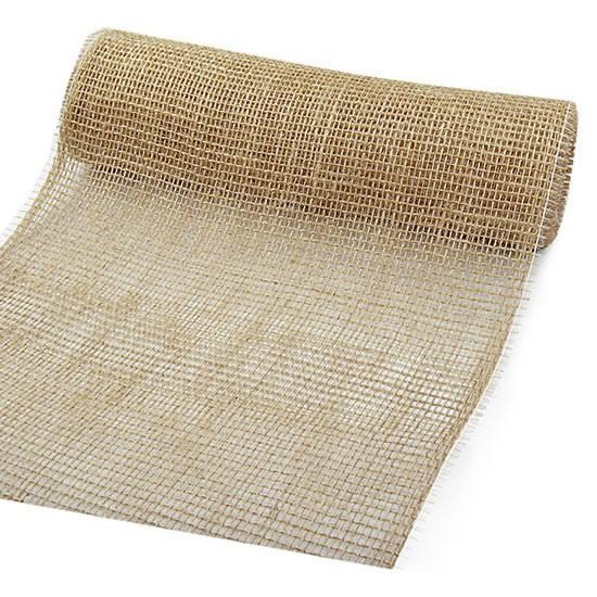DEKOR-Jute - Tischläufer: 300mm breit / 10m-Rolle, natur