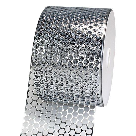 LOCHBAND-Chicago: 80mm breit / 45m-Rolle, silber-metallic