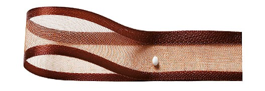 Florband: 25mm breit / 25m-Rolle, kaffeebraun
