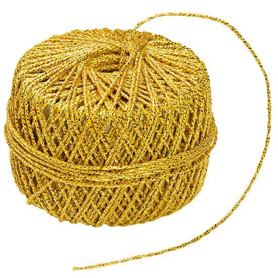 GARN-Kordel: 1,2 mm Ø / 20m-Rolle, gold