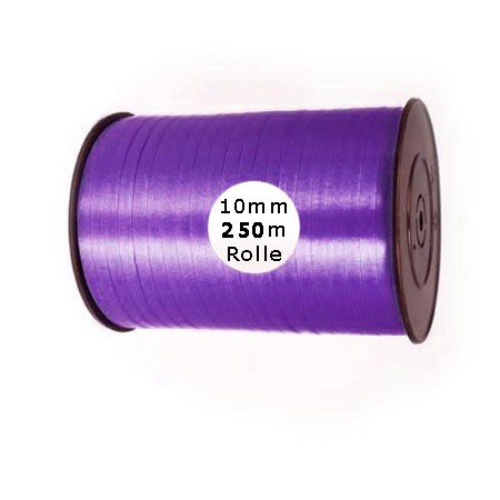 Ringelband: 10mm breit / 250m-Rolle, violett