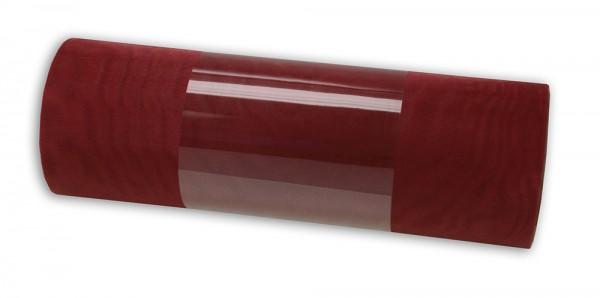 Organzaband: 280mm breit / 10m-Rolle, weinrot