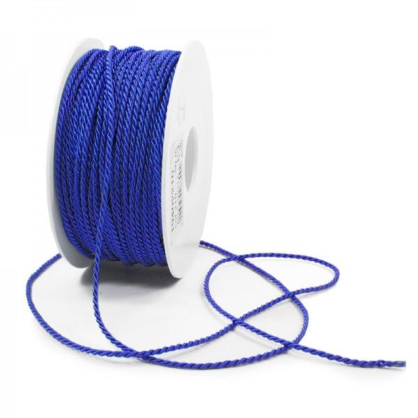 Kordel: 2mm breit / 50m-Rolle, royalblau