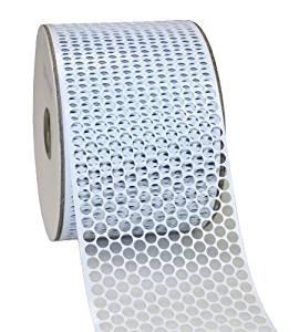 LOCHBAND-Chicago: 80mm breit / 45m-Rolle, weiss-metallic