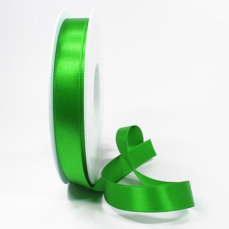 Satinband-SINFINITY, apfelgrün: 15mm breit / 25m-Rolle, mit feiner Webkante